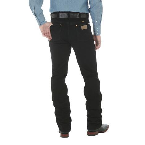 Wrangler Men's Original Cowboy Cut Slim Fit Jean - Shadow Black (Extended Length)
