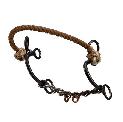 Dutton S Combo Chain Mouth W/Rope Noseband