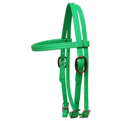Biothane Pony Browband Headstall LIME_GREEN