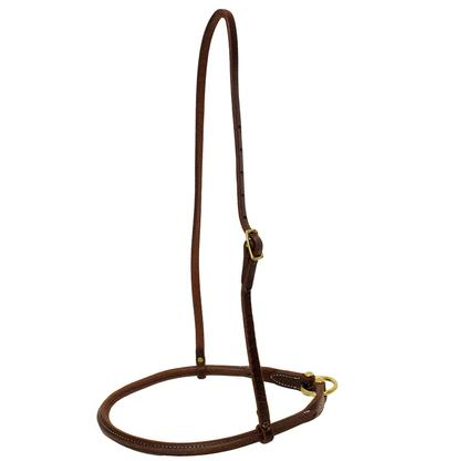 Rolled Harness Leather Noseband from STT