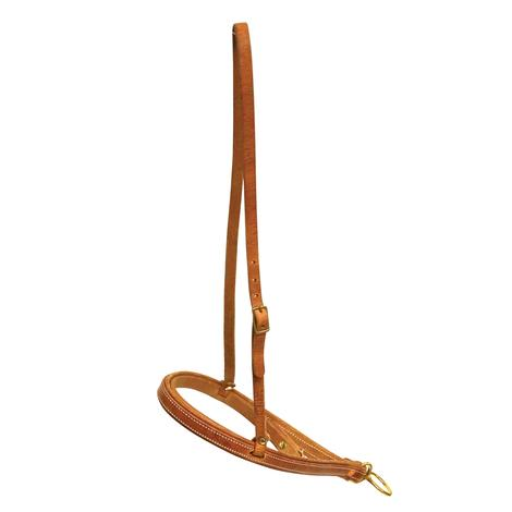 Harness Leather Noseband with Caveson