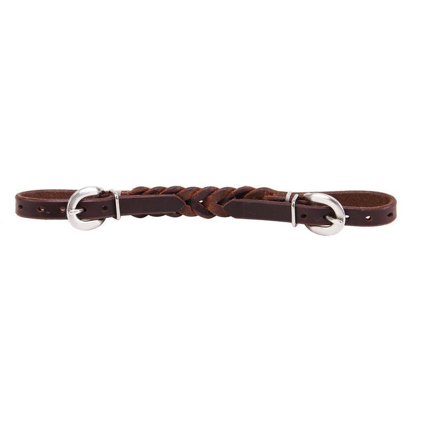 Braided Leather Curb Strap