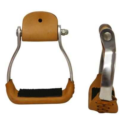 Aluminum Stirrups with Rubber Grip Pad