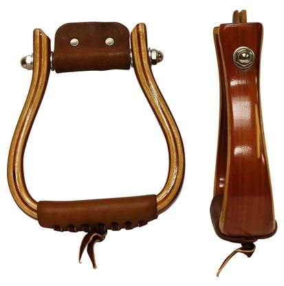 Don Orrell Red Cedar Flat Bottom Stirrups