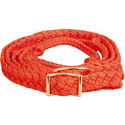 Mustang Braided Barrel Racing Rein ORANGE