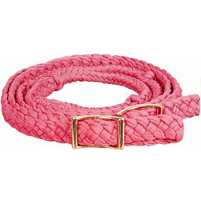 Mustang Braided Barrel Racing Rein PINK