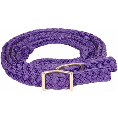 Mustang Braided Barrel Racing Rein PURPLE