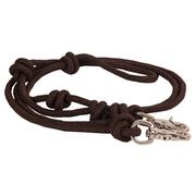 Mountain Rope 8' Knotted Barrel Rein BROWN
