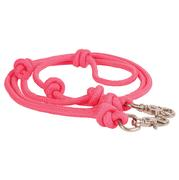 Mountain Rope 8' Knotted Barrel Rein HOT_PINK