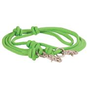 Mountain Rope 8' Knotted Barrel Rein LIME_GREEN