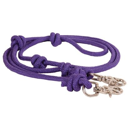Mountain Rope 8' Knotted Barrel Rein PURPLE
