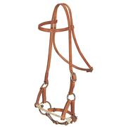 Harness Leather Side Pull with Snaffle