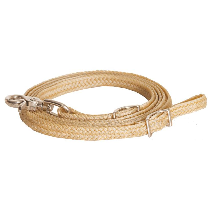 Flat Braided Waxed Roping Reins 5/8