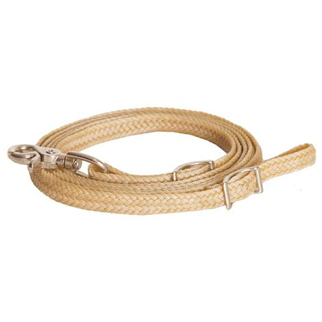 Flat Braided Waxed Roping Reins 3/4