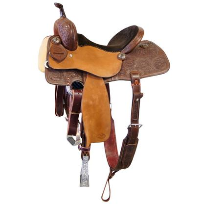 STT Barrel Saddle Oakleaf Tooled