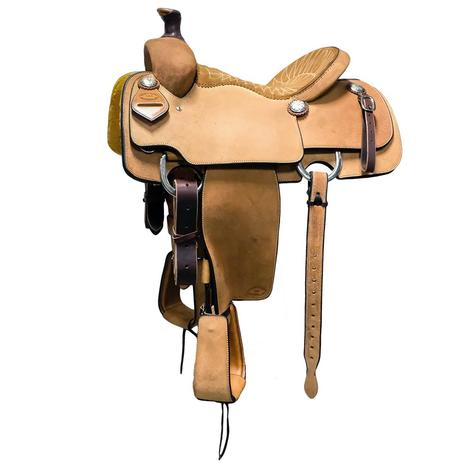 STT Calf Roper Saddle Stitched Seat