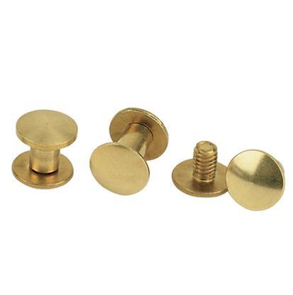 Brass Chicago Screws - 6pk
