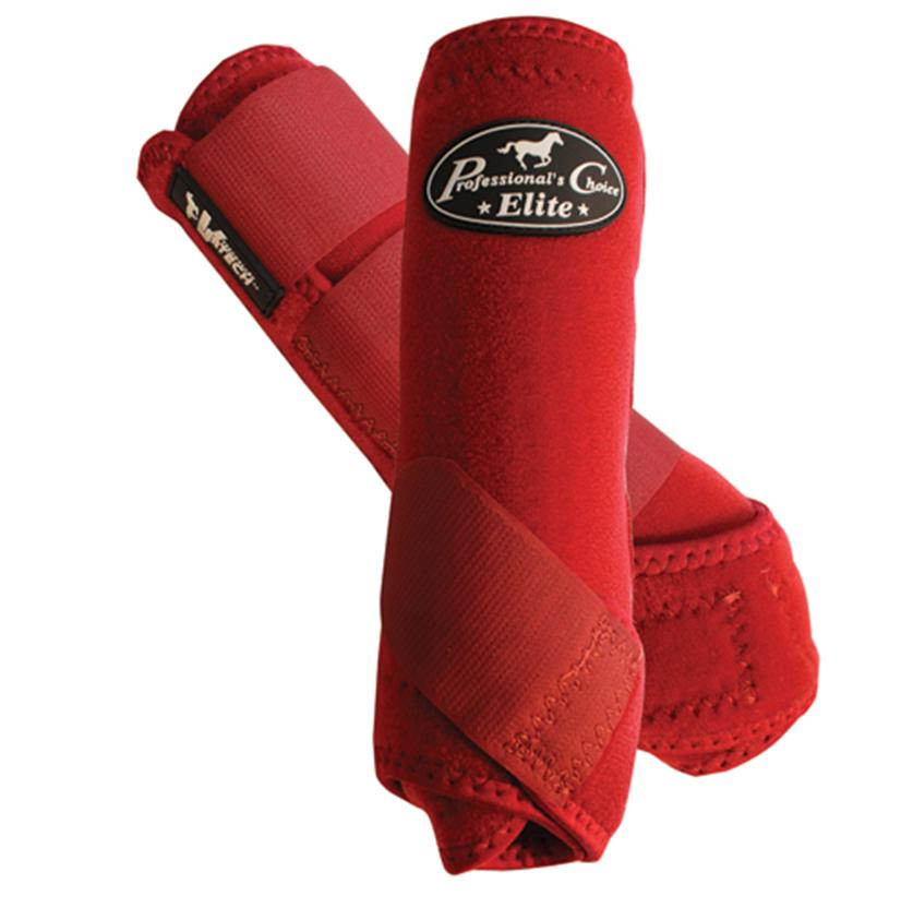 Professional Choice VenTECH Elite Sports Medicine Boots - 4 pack CRIMSON_RED