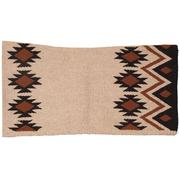 Mustang Contoured Saddle Blanket CREAM/BLACK