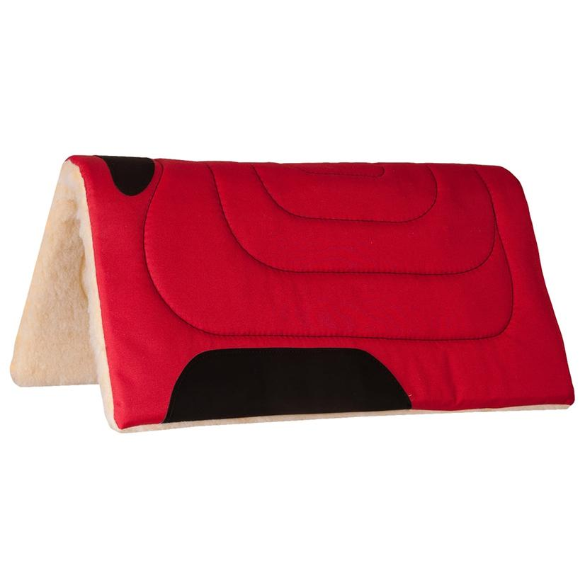 Mustang Cordura Top Saddle Pad RED