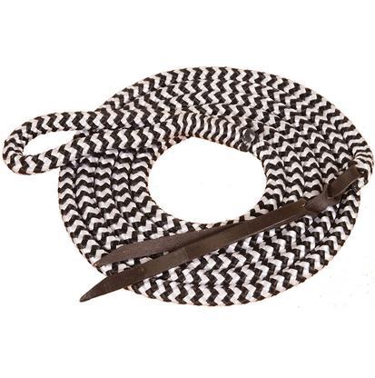Mustang Poly Lead Rope w/Eye Slide BLACK/WHITE