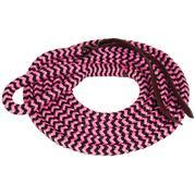 Mustang Poly Lead Rope w/Eye Slide PINK/BLACK