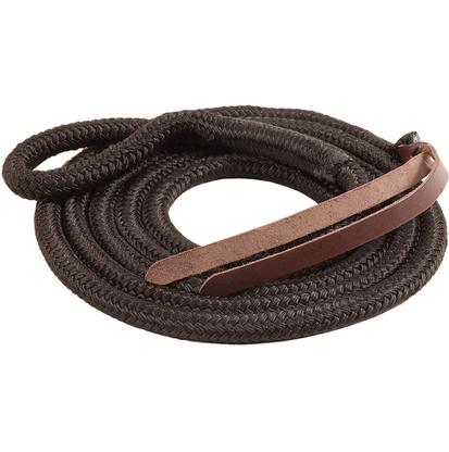Mustang Eye-Slide Poly Lead Rope BLACK