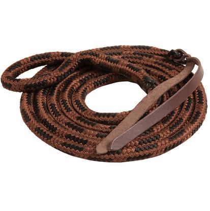 Mustang Eye-Slide Poly Lead Rope BROWN/BLACK