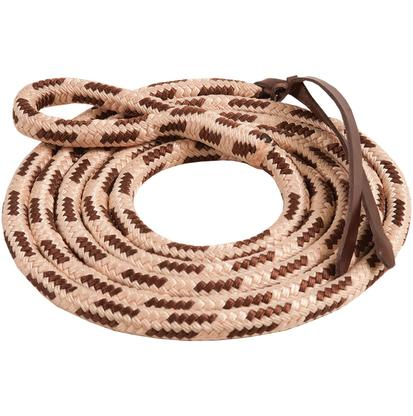 Mustang Eye-Slide Poly Lead Rope BROWN/NATURAL