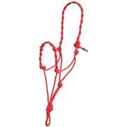Mustang Twisted Rope Halter RED