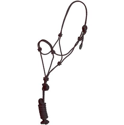 Mustang Colt Rope Halter and Lead BLACK/WHITE
