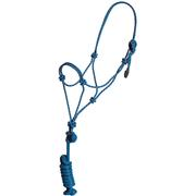 Mustang Colt Rope Halter and Lead BLUE/WHITE
