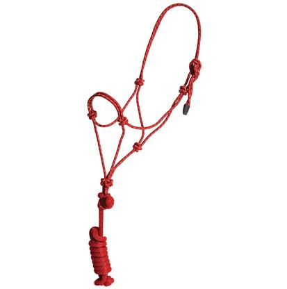 Mustang Colt Rope Halter and Lead RED/WHITE
