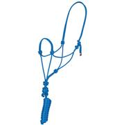 Mustang Economy Mountain Rope Halter BLUE
