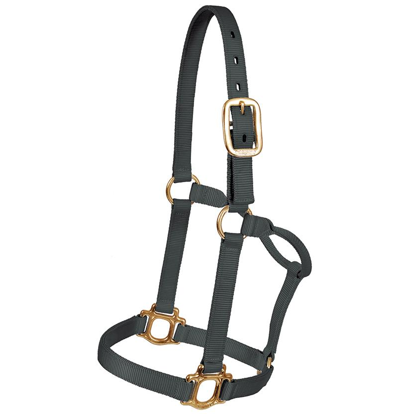 Mustang Triple Ply Nylon Halter BLACK