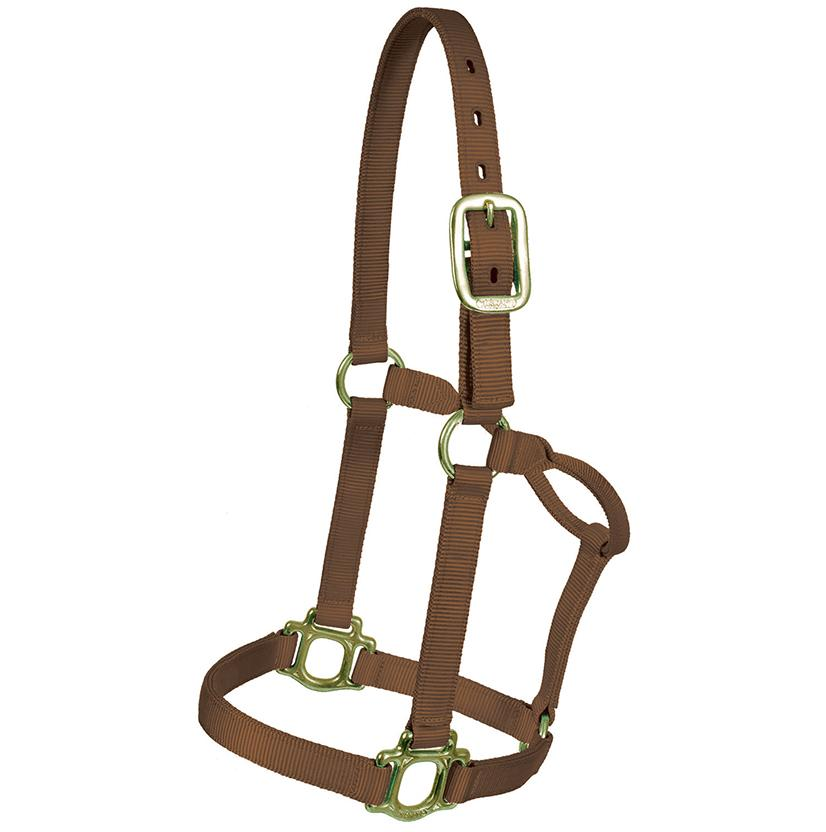 Mustang Triple Ply Nylon Halter BROWN