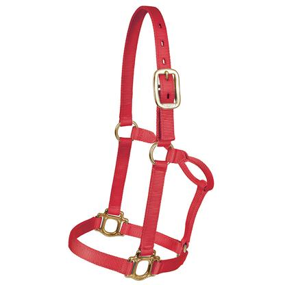 Mustang Triple Ply Nylon Halter RED