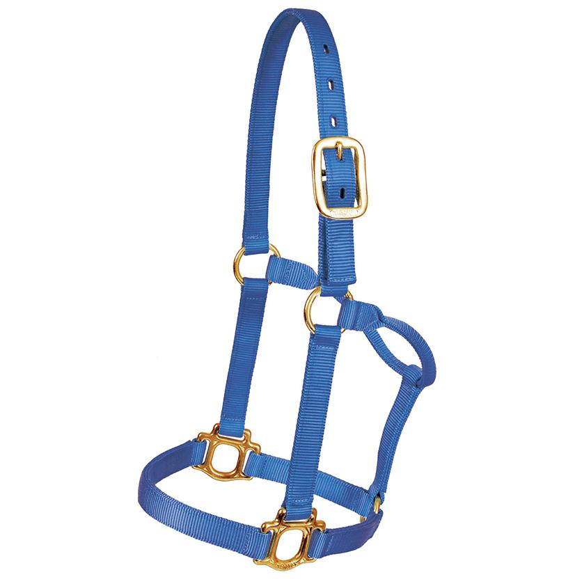 Mustang Triple Ply Nylon Halter ROYAL_BLUE