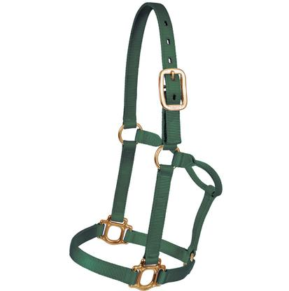 Mustang Triple Ply Nylon Halter HUNTER_GREEN