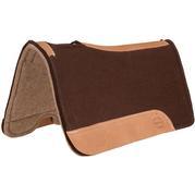 "Brown Wool Felt Saddle Pad 1"" BROWN/TAN"