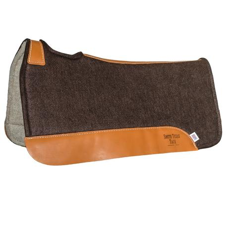 Brown Wool Felt Saddle Pad 1""