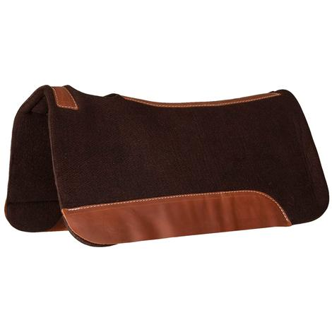 STT Chocolate Felt Contoured Saddle Pad 1