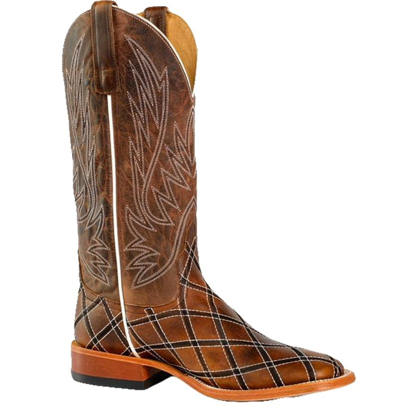 Horse Power Mens Sabotage Mocha Cowboy Boot