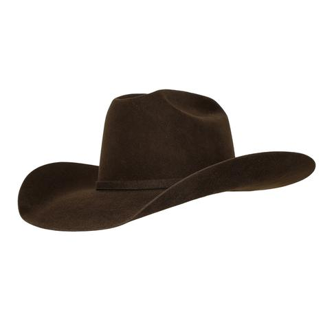 American Hat 10X Chocolate Open Crown Felt Hat - 4.25 Brim