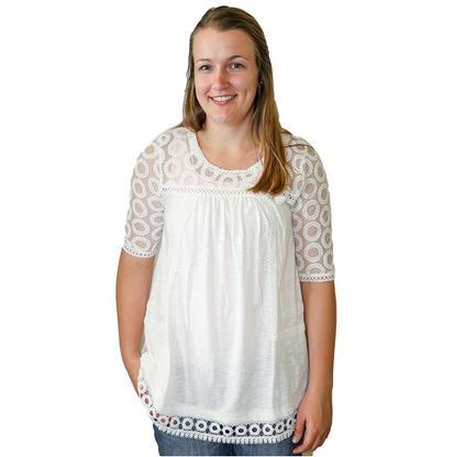 Navy Blue Womens Houston Crochet Tunic