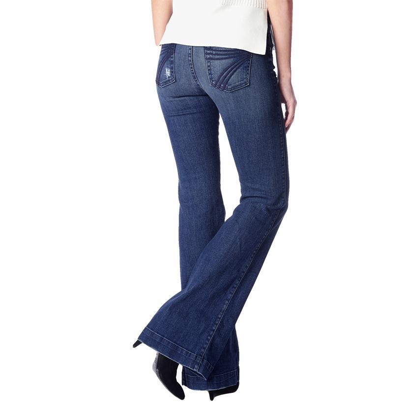 7 For All Mankind Womens Dojo Lake Blue Tailorless Trouser