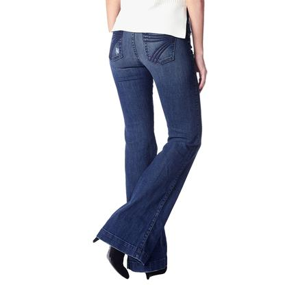 7 For All Mankind Womens Dojo Lake Blue Tailorless Trouser
