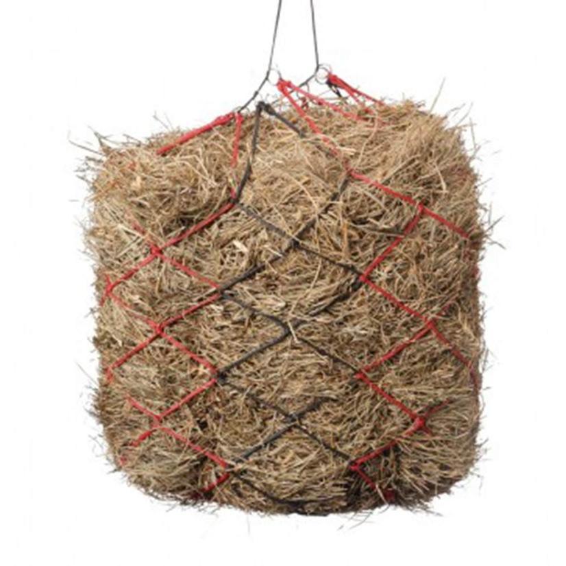 International Distributors Slow Feed Two Tone Hay Net BLACK/RED