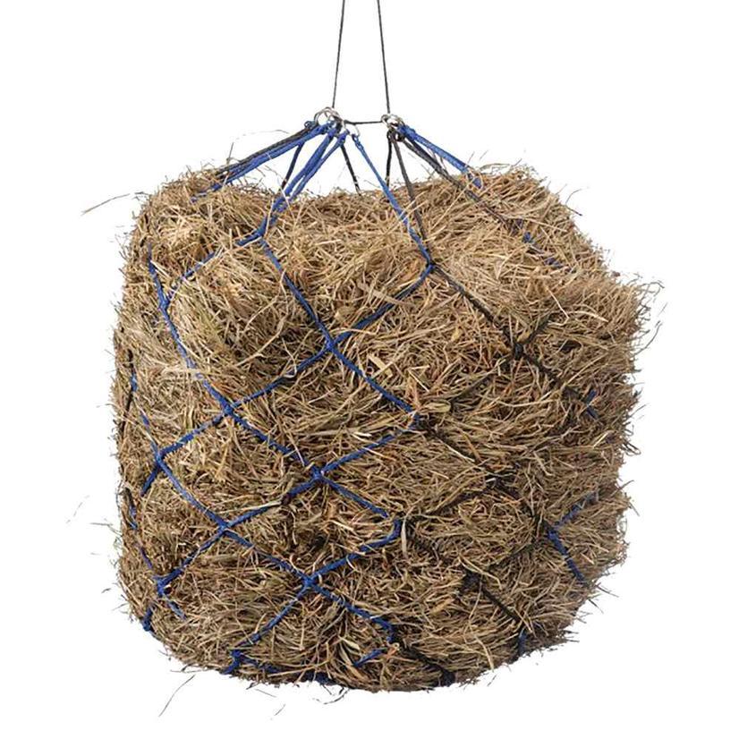 International Distributors Slow Feed Two Tone Hay Net BLACK/ROYAL