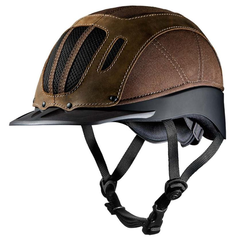 Sierra Rugged Western Riding Helmet BROWN